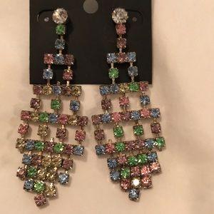 Saks Fifth Avenue Rainbow Chandelier Earrings
